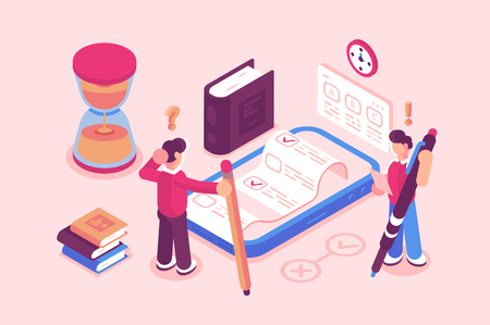Online testing or exam service Illustration