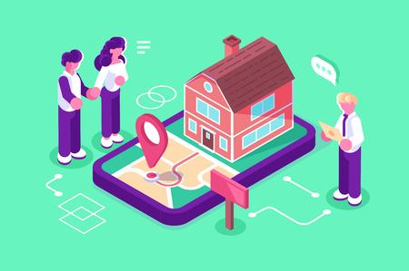Immobilieninvestition für Gewinn Vektorgrafik