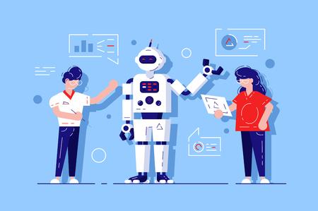 Mann und Frau entwickeln Chatbot