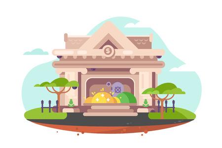 Building of city bank Ilustração Vetorial