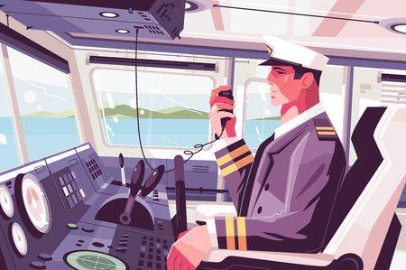 Kapitänskabine auf dem Schiff Vektorgrafik