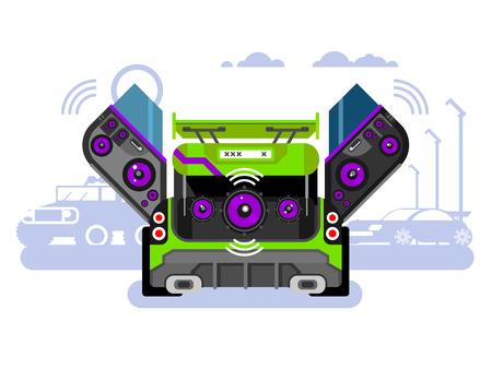 Car audio system Reklamní fotografie