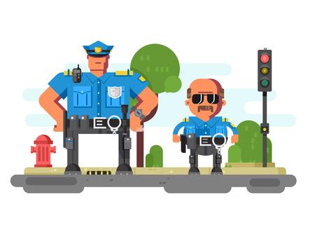 Police companions characters Banco de Imagens