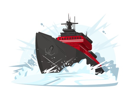 Icebreaker breaks ice