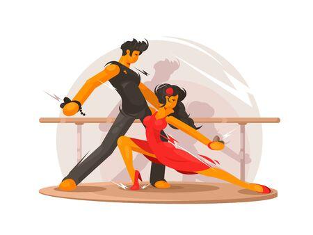 Dancing school concept Banque d'images - 125319770