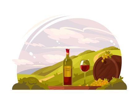 Vineyard with rich harvest 写真素材