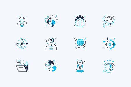 Startup icons set 写真素材 - 128999309