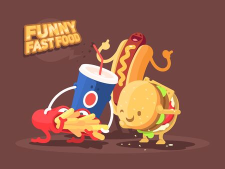Funny fast food