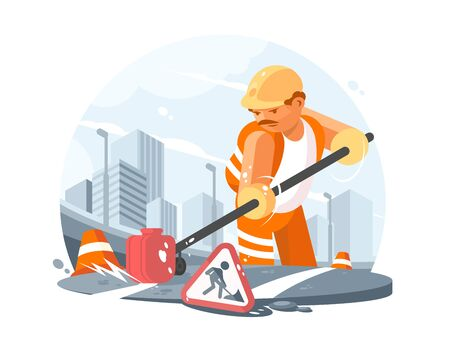 Road service worker