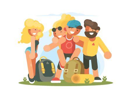 Cheerful friends guys and girls Zdjęcie Seryjne - 130610510
