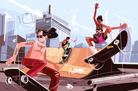 Modern urban skateboard park Zdjęcie Seryjne - 130610512