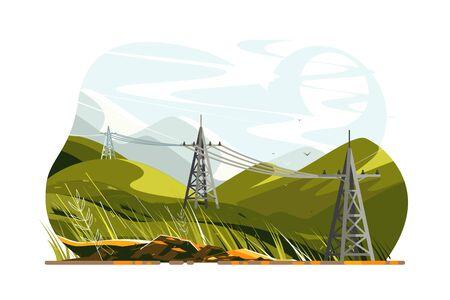 Lignes électriques électricité Vecteurs