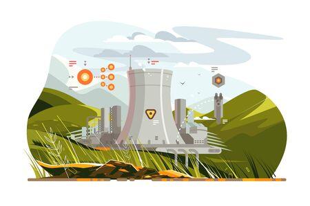 Modern atomic reactor Zdjęcie Seryjne - 130837044