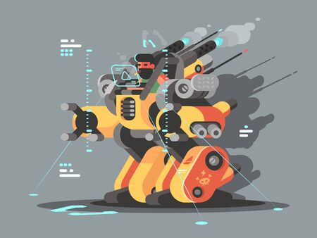 Exoskeleton innovative robot to help people with disabilities. illustration Фото со стока