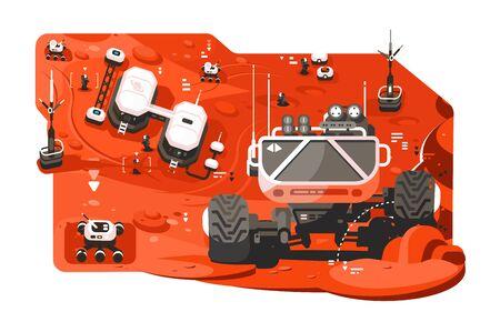 Futuristic mars rover Zdjęcie Seryjne - 133491806
