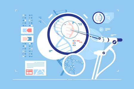 Gene correction scientific possibility Illustration