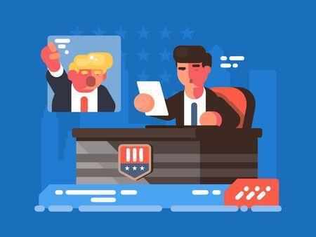 Political TV show Zdjęcie Seryjne - 133875432