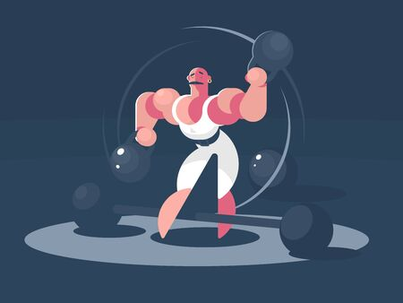 Circus athlete strongman Zdjęcie Seryjne - 133875434