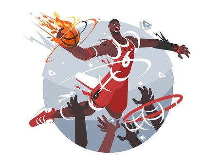 Basketball player with ball Zdjęcie Seryjne - 134384590