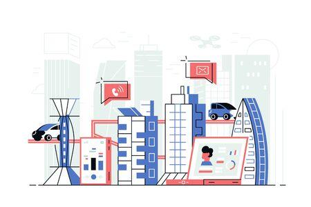 Modern smart city 向量圖像