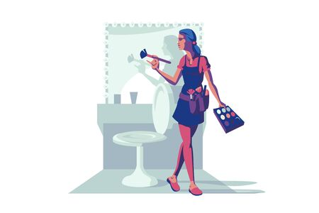 Make-up female specialist 向量圖像