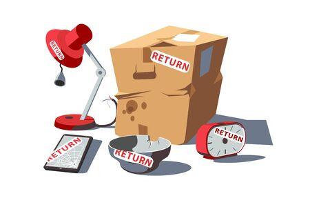 Return of damaged goods 矢量图像