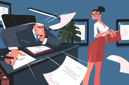 Screaming boss and secretary