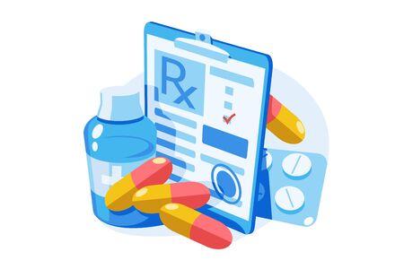 Medicine prescription with medicines Zdjęcie Seryjne - 147388210