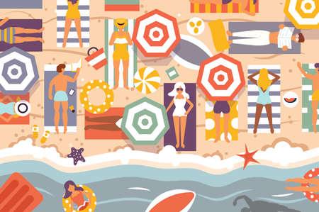 Summer beach Standard-Bild