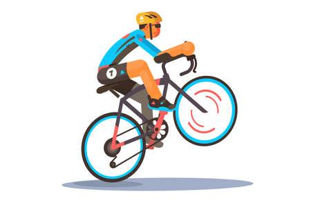 Man riding sport bike Illustration