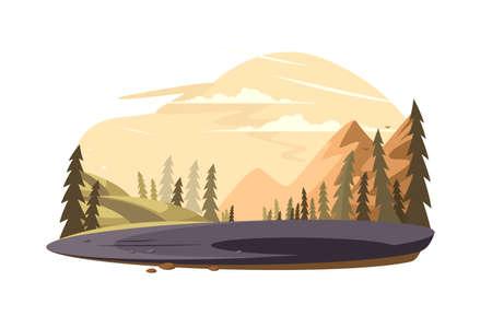 Beautiful nature landscape Illustration