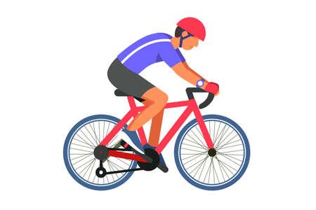 Man cyclist on road