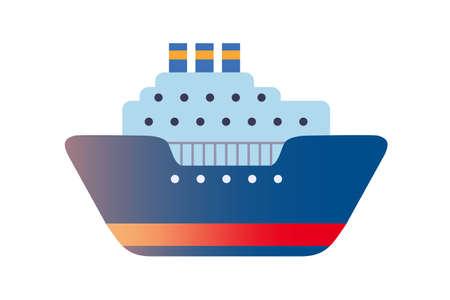 Sea travel transport Illustration