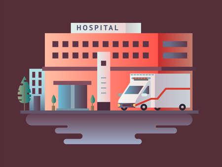 Hospital building design flat Standard-Bild