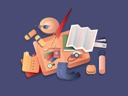Travel set objects