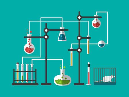 Laboratory design flat Standard-Bild