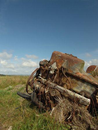 oxidado: Viejo y oxidado motor