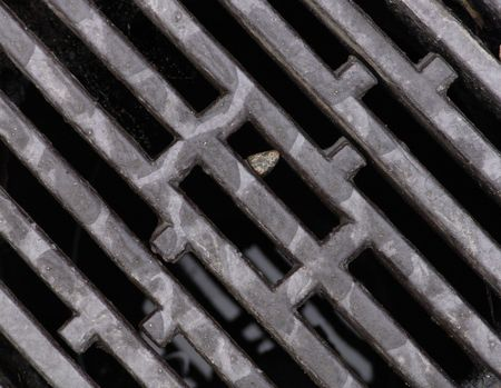 grate: Grate and pebble