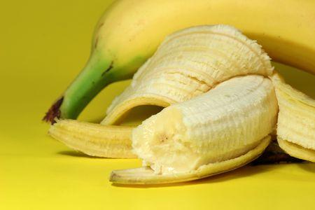 potassium: Half eaten banana