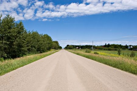 Rural gravel road