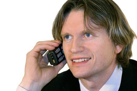Business man talking on cell phone Stock fotó