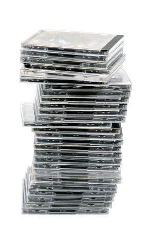 cds: Isolated pile of CDs
