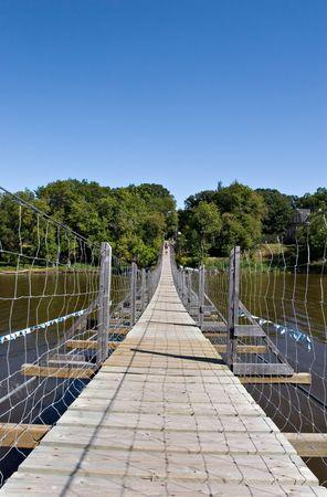 Souris swinging bridge, Manitoba, Canada Stok Fotoğraf