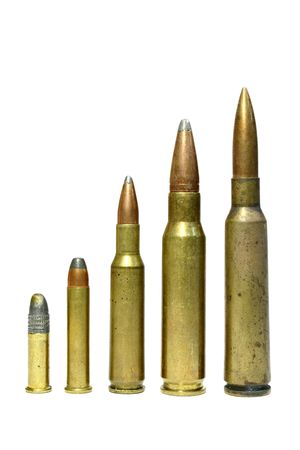 Bullets in increasing sizes