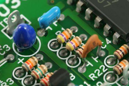 Macro of circuit board Stock fotó