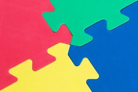 Macro of foam board puzzle Stok Fotoğraf - 384012
