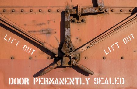 Detail from old railroad car