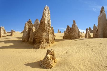 western australia: Rock formations in Pinnacles Desert, Western Australia
