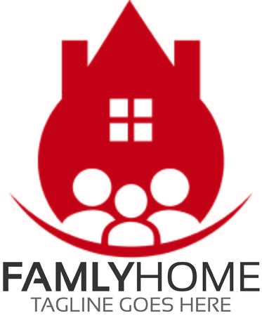 Family Home Logo Stock Vector - 110425402