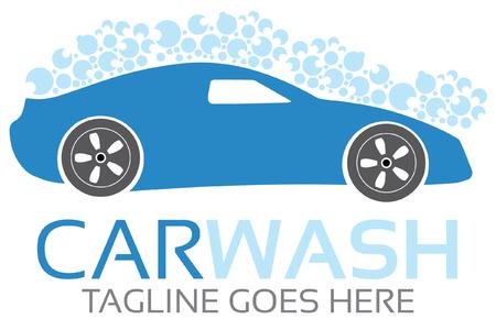 Car Wash Logo Illustration